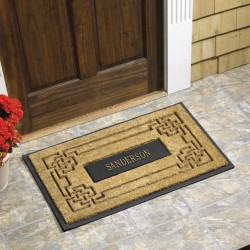 Whitehall Personalized Coir Knot Rectangle Mat