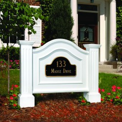 "40""W x 6-3/4""D x 32""H, Nantucket Address Sign"