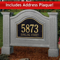 40&quot;W x 6-3/4&quot;D x 32&quot;H, Nantucket Address Sign &amp; Address Plaque Package
