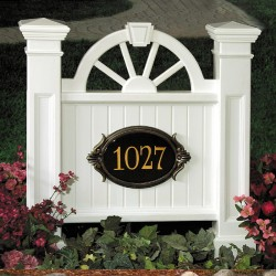 "35""W x 6-3/4""D x 38-1/2""H, Winchester Address Sign"