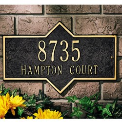 Whitehall Hampton Standard Address Wall Plaque
