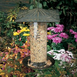 Whitehall 12'' Dragonfly Tube Bird Feeder