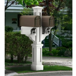 """8""""W x 56""""H, Rockport Double Mailbox Post"""