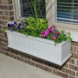 "36""W x 11""D x 10-4/5""H, Cape Cod Window Box Planter"