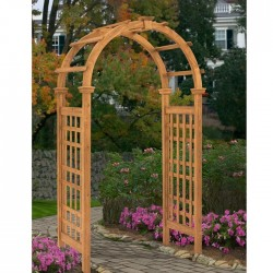 "47""W x 84 1/2""H x 24""D Rosewood Arbor, Stained Cedar"