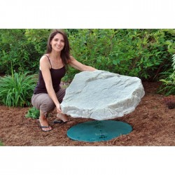 "31""L x 27""W x 6""H Artificial Rock Cover, Model 108"