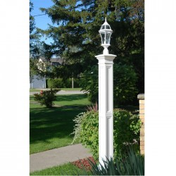 "9-3/8""W x 9-3/8""D x 72""H, Liberty Lamp Post, Post Only"