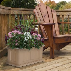 "24""W x 11""D x 11""H, Cape Cod Patio Planter"
