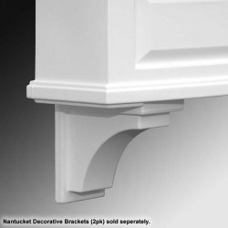 Nantucket Decorative Window Box Brackets, Per Pair