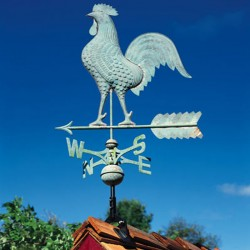 Whitehall Full Bodied Copper Rooster Weathervane
