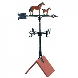 "Whitehall 30"" Mare And Colt Color Weathervane"