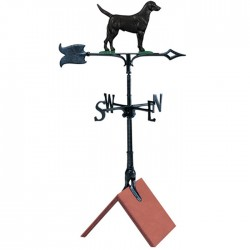 "Whitehall 30"" Black Lab Color Weathervane"