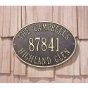 Whitehall Hawthorne Standard Oval Address Plaque