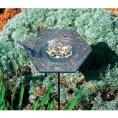 Butterfly Garden Bird Feeder - Verdigris