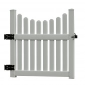 "Cottage Picket Gate Large, Dimensions: 47""W x 43 1/2""H"