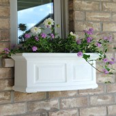 Mayne Nantucket Window Planter - White