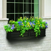 Mayne Nantucket Window Planter - Black