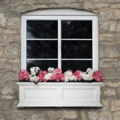 Mayne Fairfield Window Box Planter - White