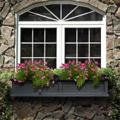 Mayne Fairfield Window Box Planter - Black
