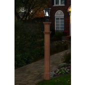 "74""H x 6""W Charleston Composite Cedar Tone Lamp Post"
