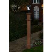 "74""H x 6""W Charleston Composite Cedar Tone Lamp Post"