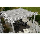 12 x 12 ft. Camelot Louvered Pergola, White