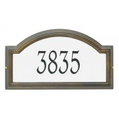 Reflective Silver Background French Bronze Frame/ Engraved Black Numbers