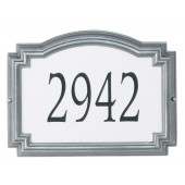 Reflective Silver Background Pewter Frame/Engraved Black Numbers