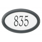 Reflective Silver Background Black Frame/Engraved Black Numbers