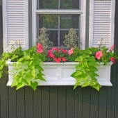"48""W x 11""D x 10-4/5""H, Fairfield Window Planter"