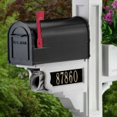 Personalized Cast Aluminum Address Plaque for Mayne Newspaper Holder