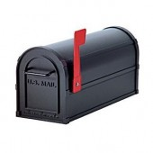 "7 1/2""W x 9 1/2""H x 20 1/2""D, Antique Rural Mailbox"