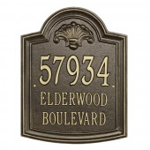 Whitehall Elderwood Estate Personalized Aluminum Address Plaque