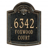 Whitehall Elderwood Standard Personalized Aluminum Address Plaque