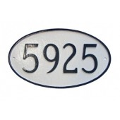 Standard Oval Address Plaque
