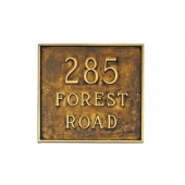 "18"" Square Estate Address Plaque"