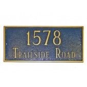 Standard Classic Rectangle Address Plaque
