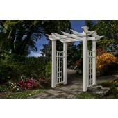 "58""W x 92""H x 32""D Fairfield Deluxe Arbor, White"