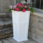 "16""W x 16""D x 32""H, Cap Cod Patio Planter"