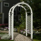 "49""W x 24""D x 91 5/8""H Livingston Arbor, White"