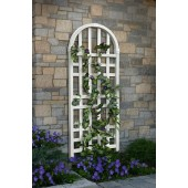 "24 1/2""W x 1 1/2""D x 60 1/2""H Waverly Trellis, White Vinyl"