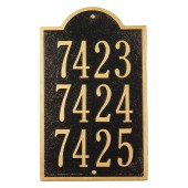 Town Homes Three-Unit Address Marker