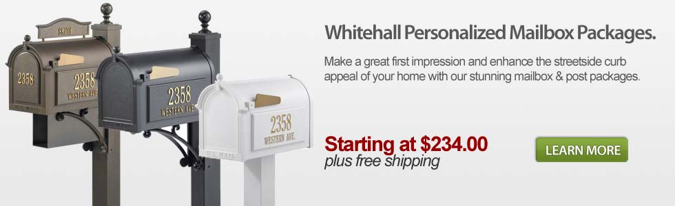 Personalized Whitehall Mailbox Packages